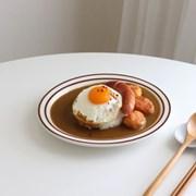 뉴욕 라인 오벌 플레이트 접시