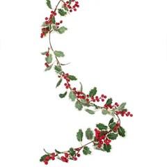 [빛나파티]홀리 빨간열매 조화 넝쿨 가랜드 Artificial Holly And Be