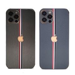 아이폰12 미니 프로 맥스 메탈 스킨 커버+클리어 케이스 보호 필름