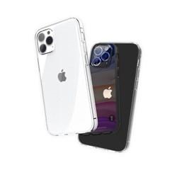 끼움 변색없는 아이폰12 투명 PC 카메라 풀커버 케이스