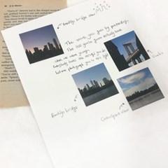[일레갈로] 뉴욕 감성사진 낱장 스티커 8장