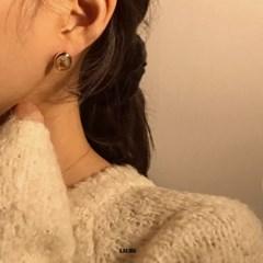 라운드베어 이어링 귀걸이