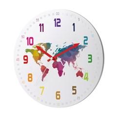 컬러 숫자 세계지도 worldmap-255W