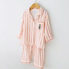 사계절 순면 어린이 잠옷 수면친구 곰돌이자수