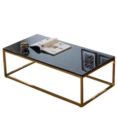 엘리 사각마블 골드 테이블