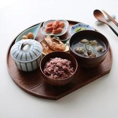 우드 혼밥 반달트레이