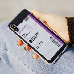 아이폰7 아이폰8 에어플레인 티켓 투명 젤리 케이스
