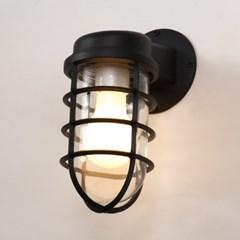 LED겸용 실외 외부 방수 벽등 빈티지 블랙_(1986454)