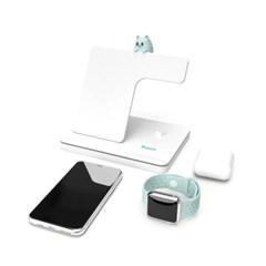 라온 3in1 무선충전기 애플 워치 아이폰 에어팟 삼성 노트20 S20