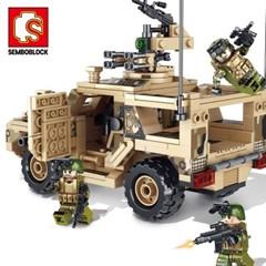 셈보블럭 레고호환 밀리터리장난감 탱크 군인 초등남아블럭 105622