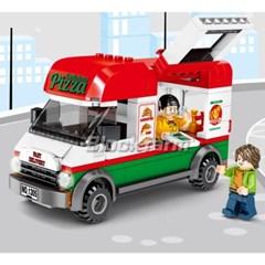 셈보블럭 미니자동차레고 피자푸드트럭 키덜트 601305