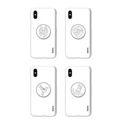 아이폰12 미니TC-라인애니멀 스마트톡 하드 케이스