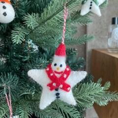 별 트리 장식 소품 꾸미기 레드 인테리어 크리스마스