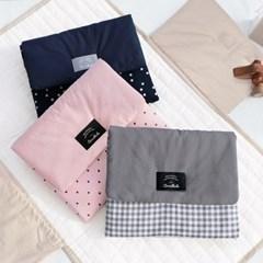 코니테일 기저귀 패드 - 베이지체크 (휴대용 기저귀매트 출산선물)