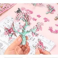 AM409 CHERRY BLOSSOM TREE 벚꽃 D.I.Y 뮤직 박스 (오르골)
