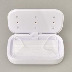식스비 고속무선충전 소독기 핸드폰 마스크 UV 살균기