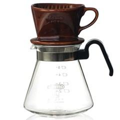 도모 커피드리퍼 대 3/4CUP 브라운+여과지200장세트_(3842605)