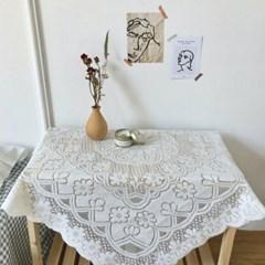 감성 레이스 식탁보 테이블보 3size 플라워 빈티지 자수 테이블매트