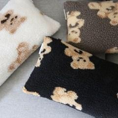 윈터 베어 양털 쿠션(2size)(3colors)