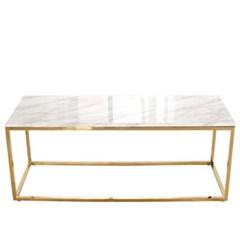 엘르 사각마블 골드 테이블