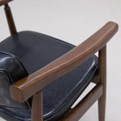 KTA_C_0198 VC030 우드 체어 원목 인조가죽 의자
