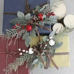 크리스마스 가랜드 조화 인테리어 벽장식 9종 택 1_(2094229)