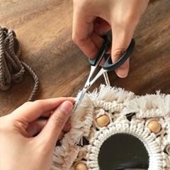DIY 마크라메 만들기 키트 내추럴 우드비즈 거울