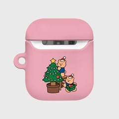 Happy covy x-mas-pink(Hard air pods)_(1705386)