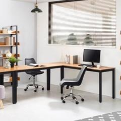 포엠 고무나무 원목 다용도 철제 책상 테이블1800