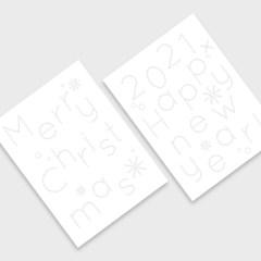 COLORING STITCH CARD 컬러링 스티치 카드 (크리스마스 & 새해 카드)