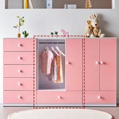 [에띠안]비비아나 베이비 유아 아기 키즈옷장 도어형 800 4색상
