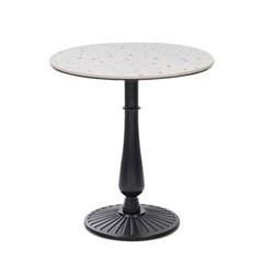 테라조 원형주물다리 테이블