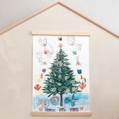 쭈키즈_크리스마스 트리 포스터 + 스티커