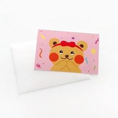 일레베어 축하 생일카드 5종