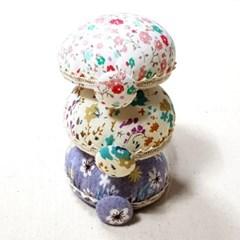 꽃무늬 스트랩 손목 핀쿠션 핀봉 바늘꽂이 시침핀꽂이
