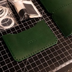 DIY 카드지갑 만들기 이니셜 각인 가능 소가죽 지갑