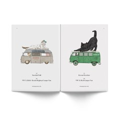 CAT CAR 캣카 일러스트 아트북 - TO PEOPLE WHO LOVE CATS AND CARS
