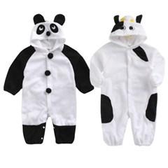 (겨울용)팬더랑 카우랑 포근 우주복(80-95) 303707