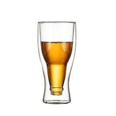 [로하티]거꾸로 병맥 이중유리 맥주컵(350ml)