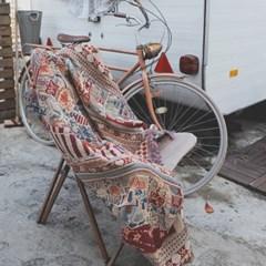 레트로 자전거 감성블랭킷 캠핑담요 스프레드 소파커버 (130x180)