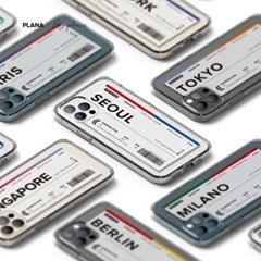 PLANA 에어플레인 티켓 시리즈 갤럭시 S21 플러스 아이폰 12 케이스