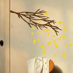 은행잎 떨어지는 나무 인테리어 스티커