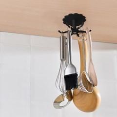 플로렛 회전 조리도구걸이 접착식 욕실 천장 후크