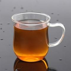 [로하티]커브라인 내열 유리컵(350ml)