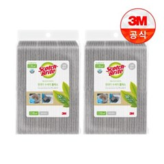 [3M]원데이 수세미 플러스 강력60매 2개(총120매)