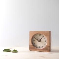 [리퍼브스크래치]바닐라 수(樹) 우드사각 무소음 탁상시계