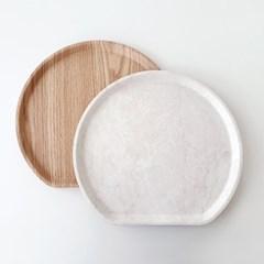 논슬립 혼밥 반달트레이 2colors