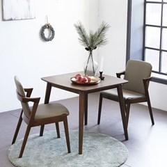 KUF 제미니 원목 2인 식탁세트 (의자)_(2101385)
