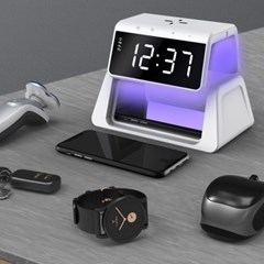 UV살균 고속 무선 충전기 SET (무선충전+살균+알람시계기능)