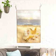 [패브릭 포스터/캔버스 액자] - 해변의 피크닉